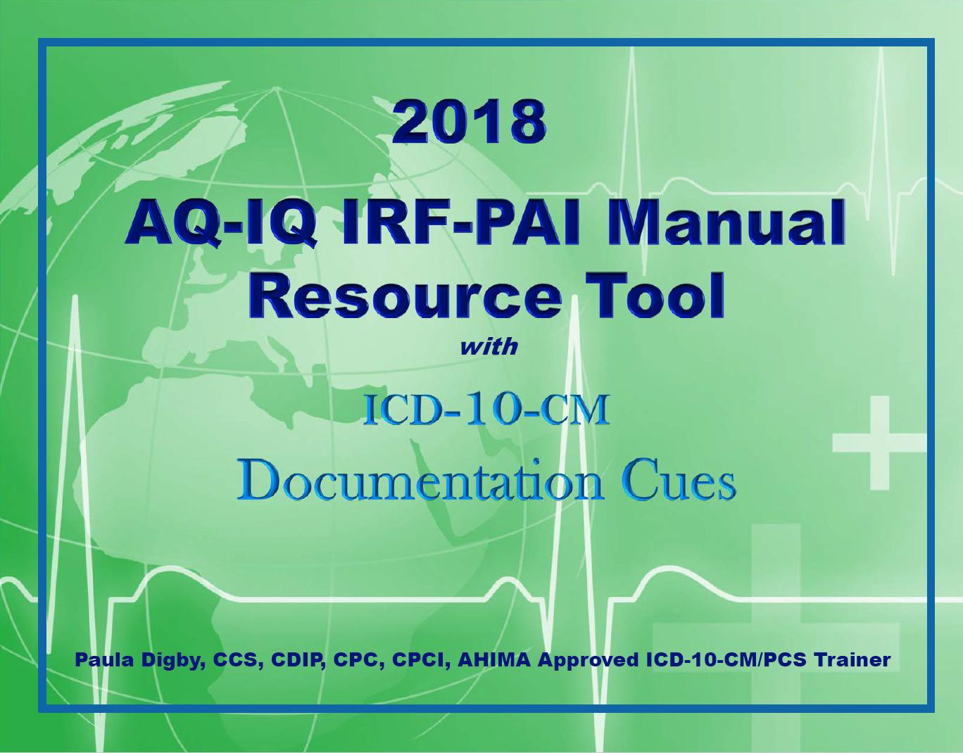 IRF PAI Manual Resource Tool